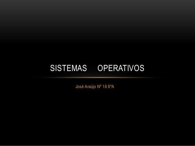 José Araújo Nº 16 8ºA SISTEMAS OPERATIVOS