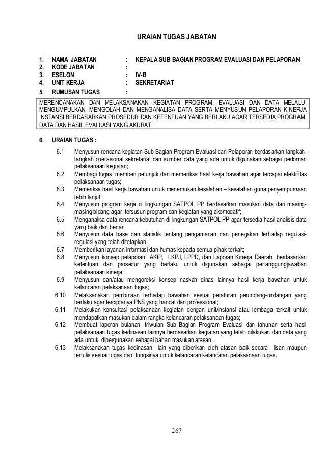 Format Pelaporan Satpol Pp Tulisan