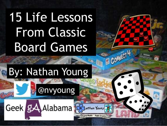 15 Life Lessons  From Classic  Board Games  By: Nathan Young  @nvyoung