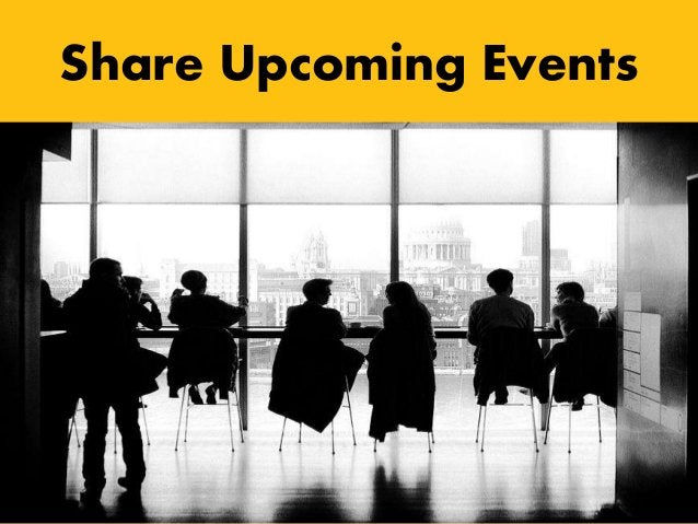 Share Upcoming Events
