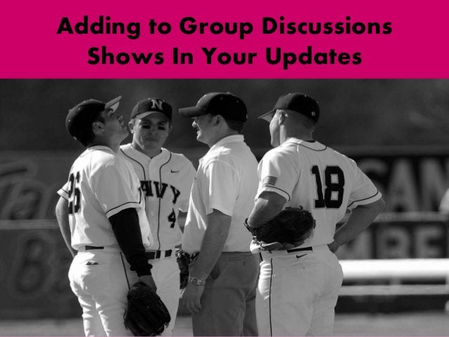 Adding to Group Discussions Shows In Your Updates