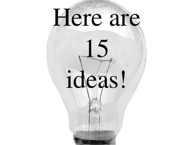 Here are 15 ideas!