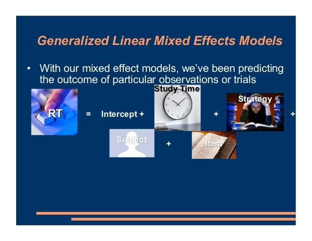 • With our mixed effect models, we've been predicting the outcome of particular observations or trials • We sum up the inf...