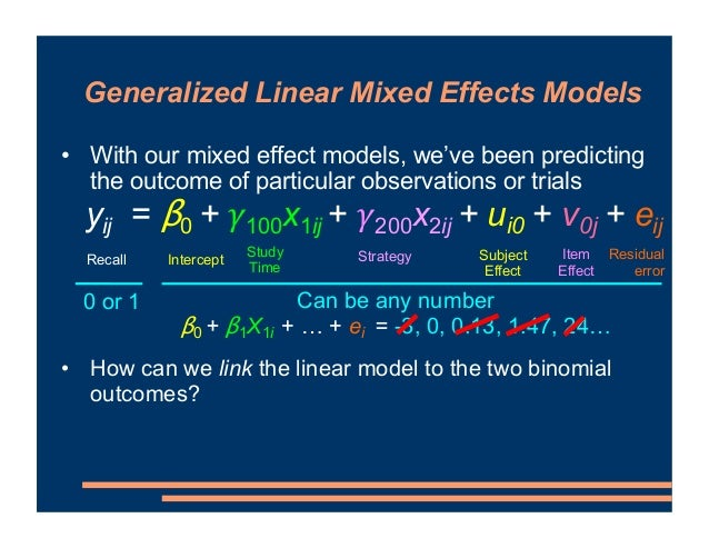 • With our mixed effect models, we've been predicting the outcome of particular observations or trials • What if we modell...