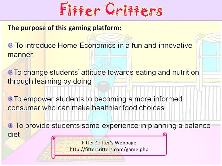 Fitter Critter's Webpage http://fittercritters.com/game.php