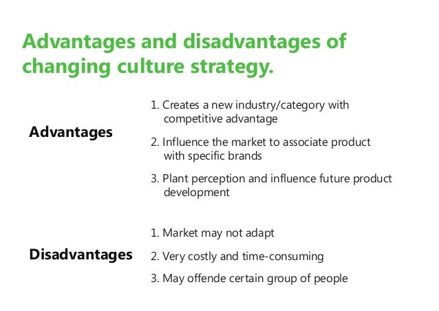 what are the advantages of culture