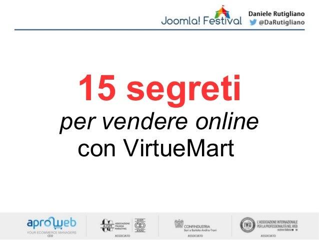 15 segreti per vendere online con VirtueMart