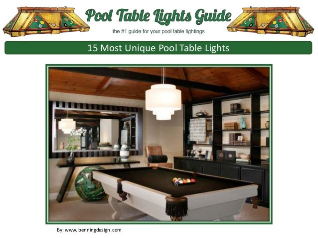 15 Most Unique Pool Table Lights By: Www. Benningdesign .com ...