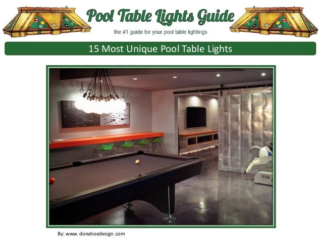 15 Most Unique Pool Table Lights By: Www. Donahoedesign .com ...