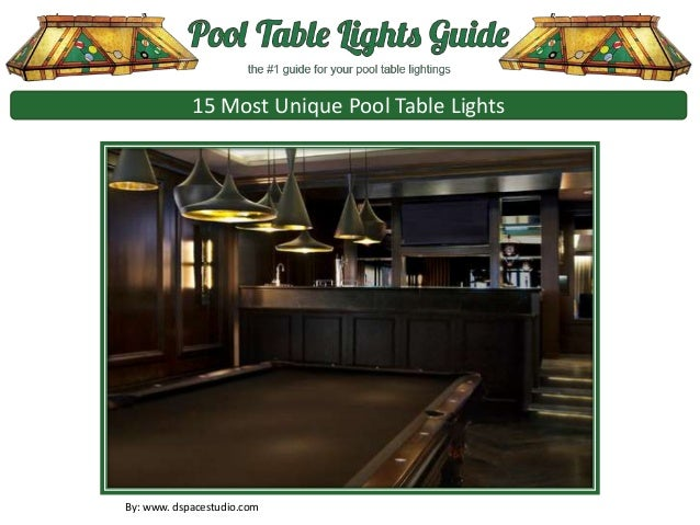 15 Most Unique Pool Table Lights By: Www. Dspacestudio.com ...