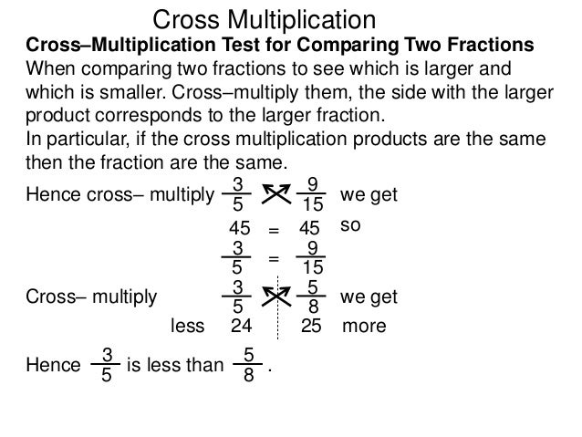 15 on cross multiplication
