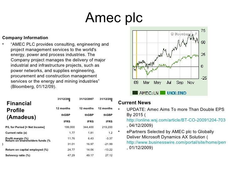 "Amec plc <ul><li>Company Information </li></ul><ul><li>"" AMEC PLC provides consulting, engineering and project management ..."