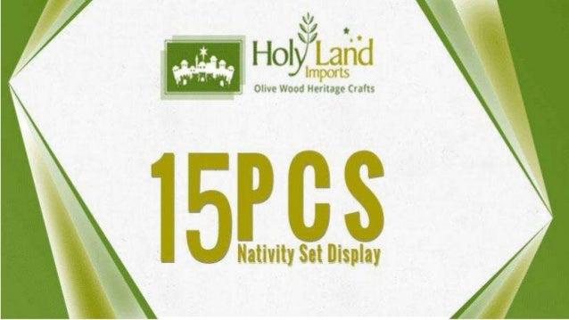 15 PCS Nativity Set Display