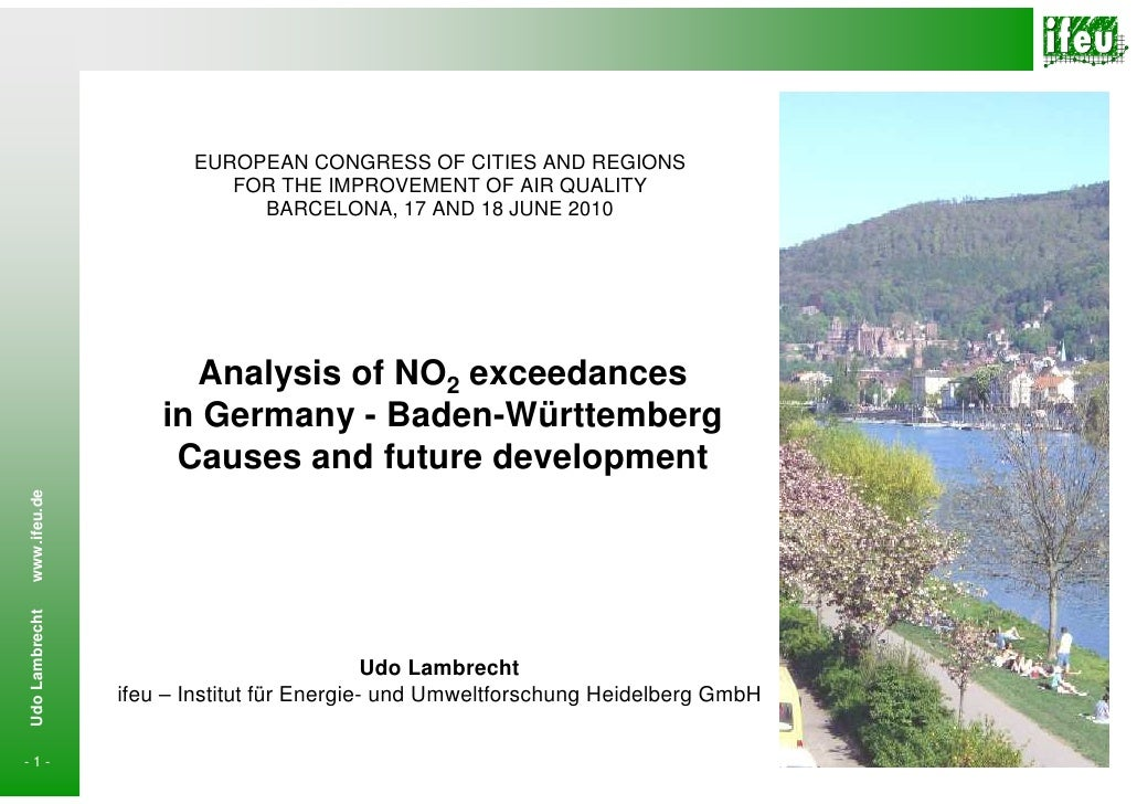 EUROPEAN CONGRESS OF CITIES AND REGIONS                           FOR THE IMPROVEMENT OF AIR QUALITY                      ...