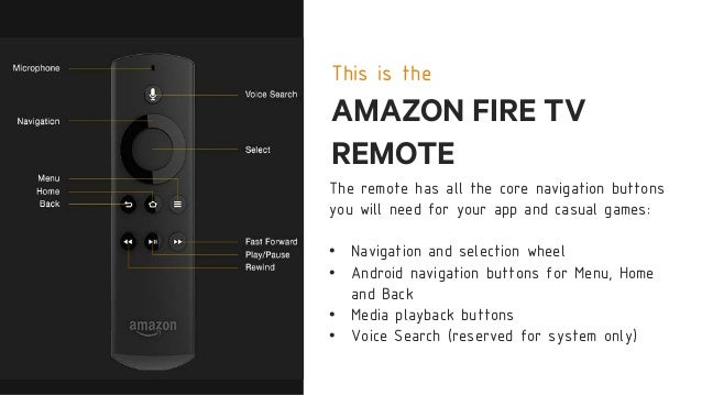Porting Tablet Apps to the Amazon Fire TV