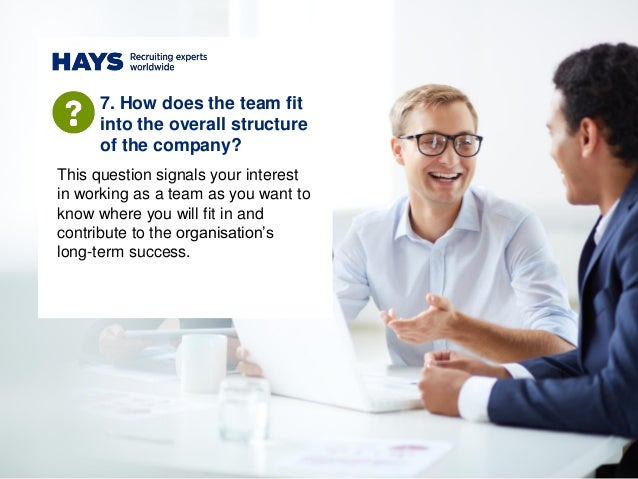 This question signals your interest in working as a team as you want to know where you will fit in and contribute to the o...
