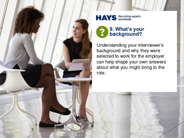 Understanding your interviewer's background and why they were selected to work for the employer can help shape your own an...