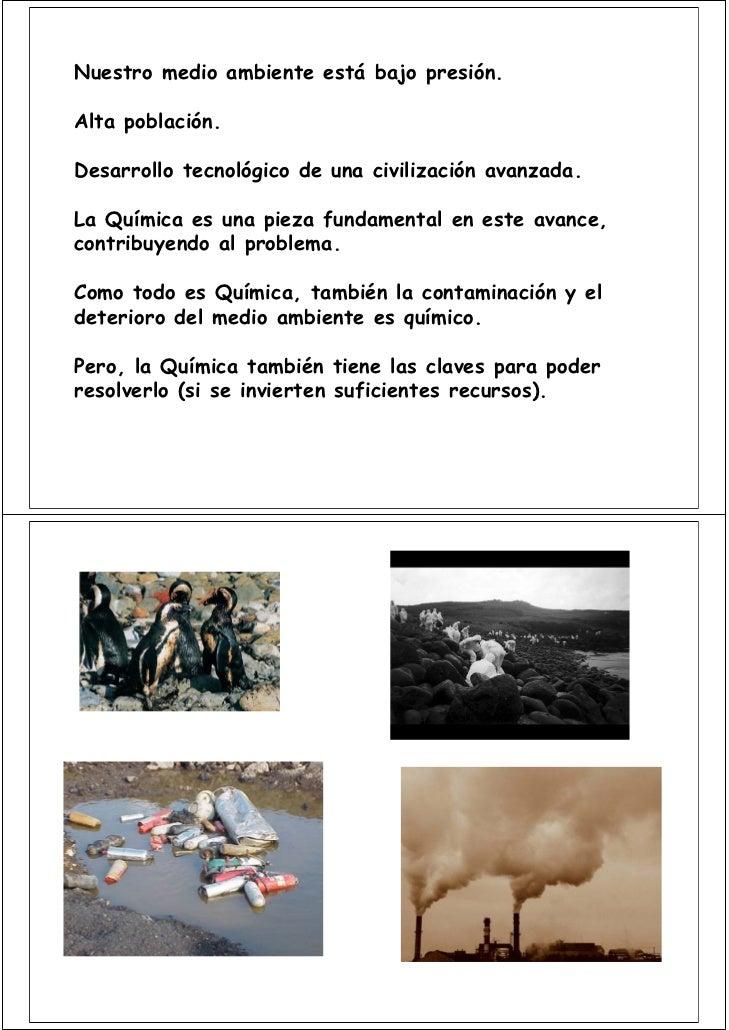 LA QUIMICA Y EL MEDIO AMBIENTE Slide 2
