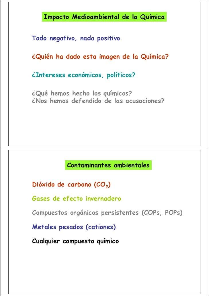LA QUIMICA Y EL MEDIO AMBIENTE Slide 3