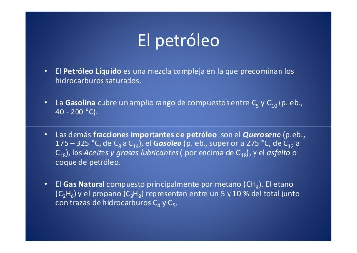 El petróleo                                                             x                                                 ...