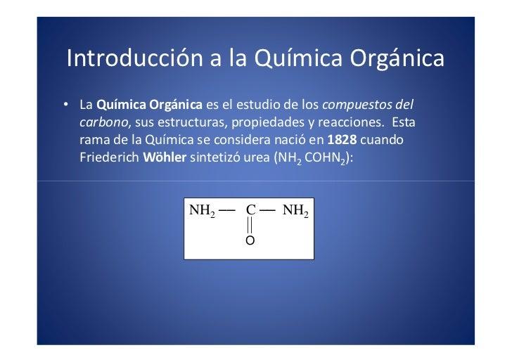 Introducción a la Química Orgánica                                                  x                                     ...