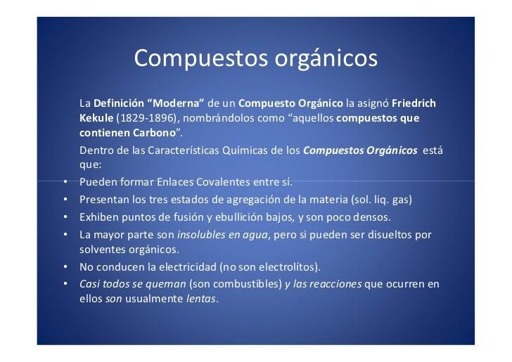 Compuestos orgánicos                                                           x                                          ...