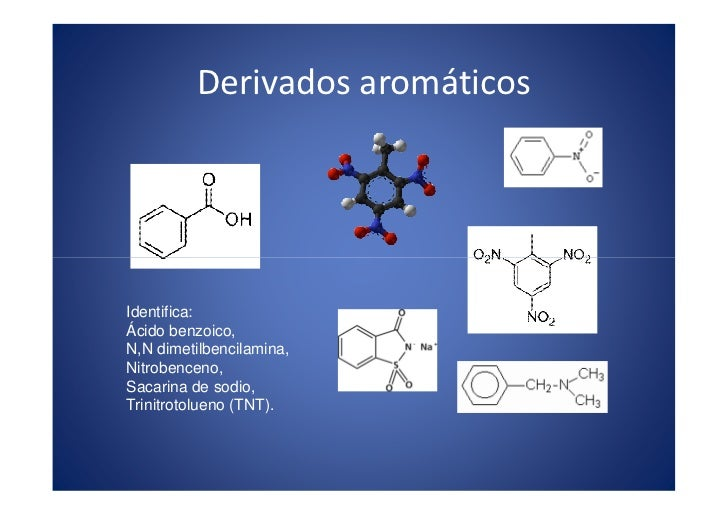 Derivados aromáticos                                          x                                       . m                 ...