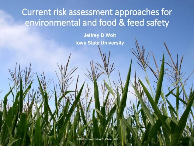 Current risk assessment approaches for environmental and food & feed safety Jeffrey D Wolt Iowa State University OECD Geno...