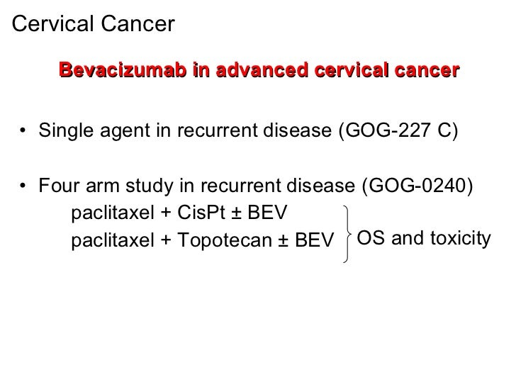MCO 2011 - Slide 15 - C. Sessa - Cervical and endometrial