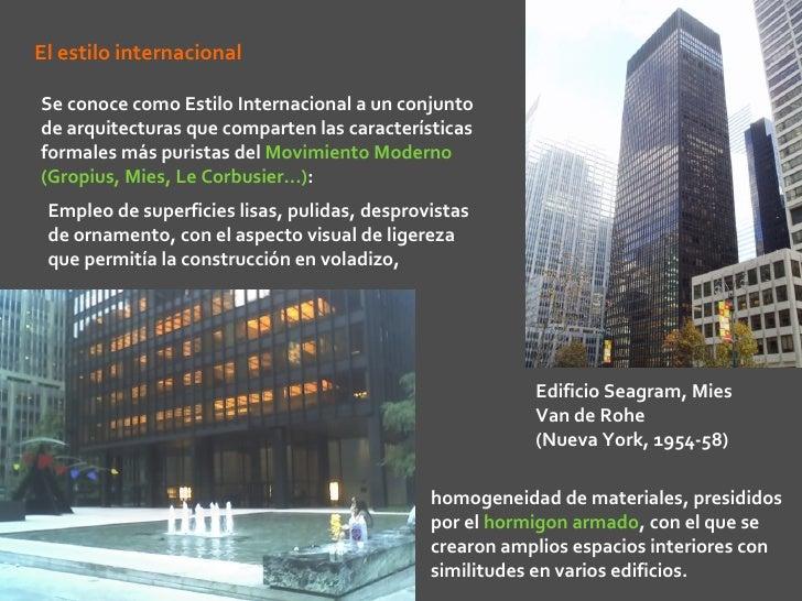 Arte siglo xx arquitectura racionalismo y organicismo - Diferencia entre arquitectura moderna y contemporanea ...