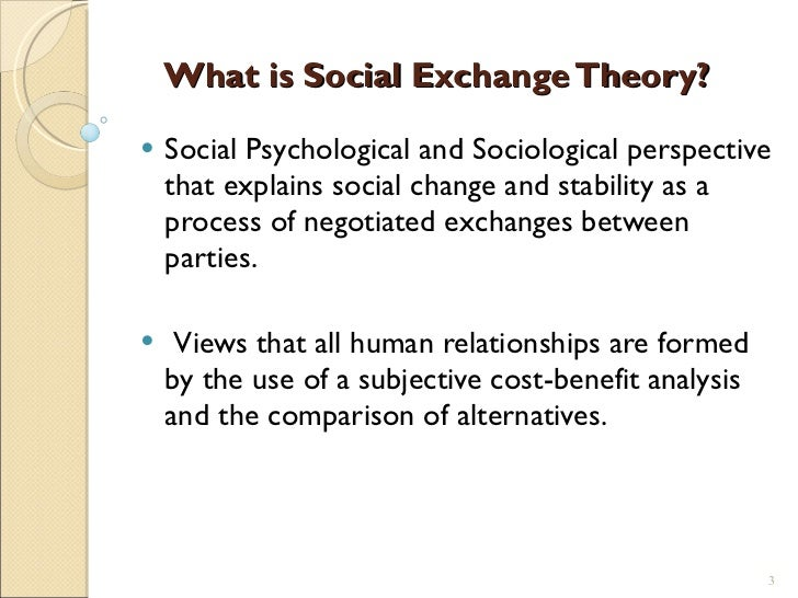 Example of social exchange theory