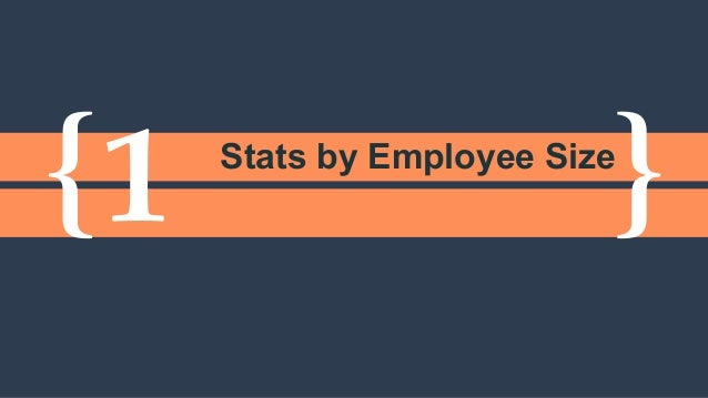 { }1 Stats by Employee Size