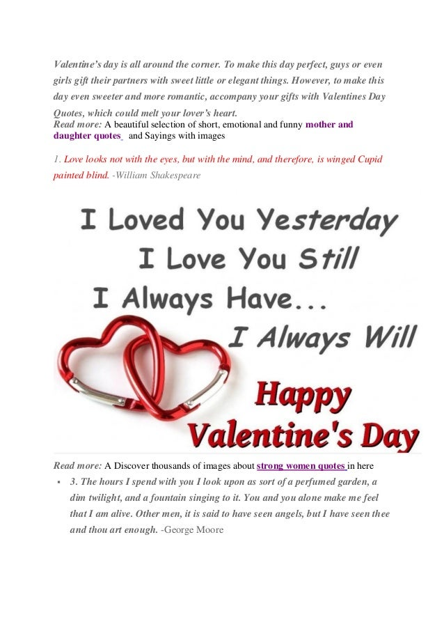 15 Sweet Valentines Day Quotes