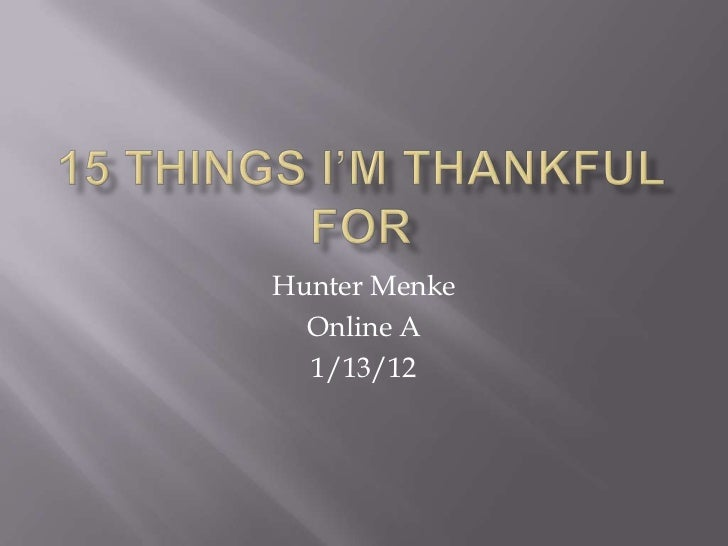 Hunter Menke  Online A  1/13/12