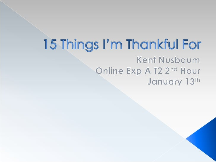 15 things i'm thankful for