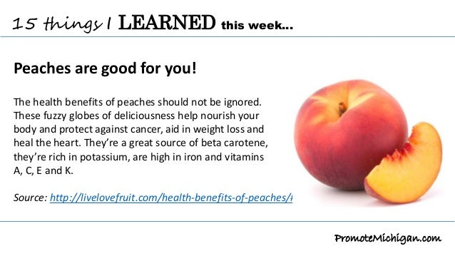 15 things I've learned this week about Michigan PEACHES
