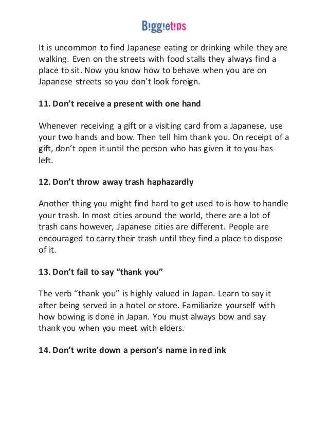 15 things not to do in japan