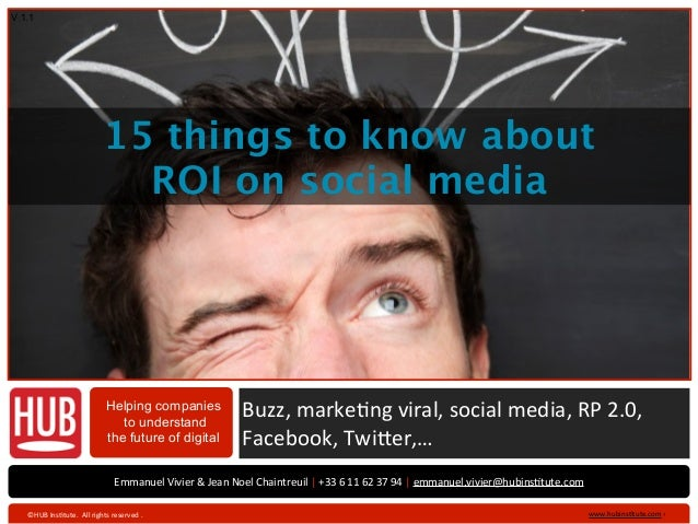 V 1.1                                         15 things to know about                                           ROI on soc...
