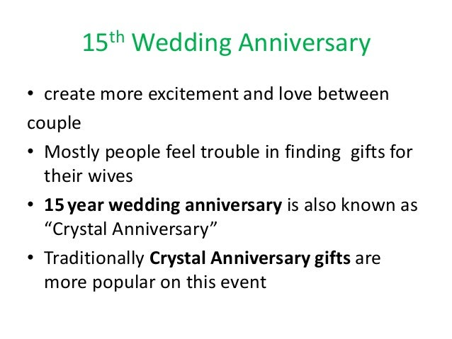 What Is The Gift For 15 Year Wedding Anniversary: 15th Wedding Anniversary Ideas