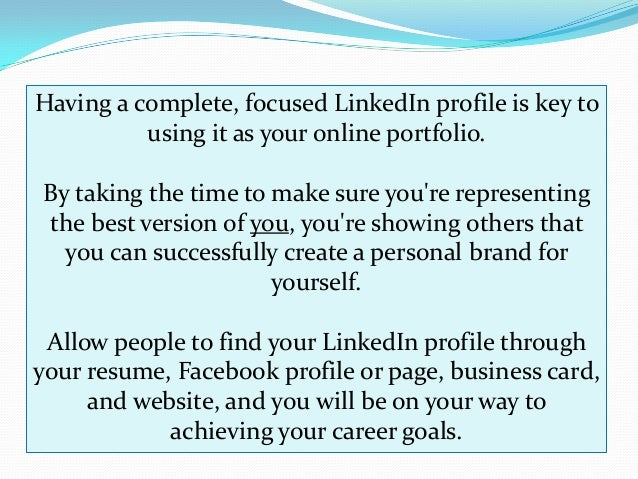 15 Tips For Using LinkedIn to Build Your Online Portfolio