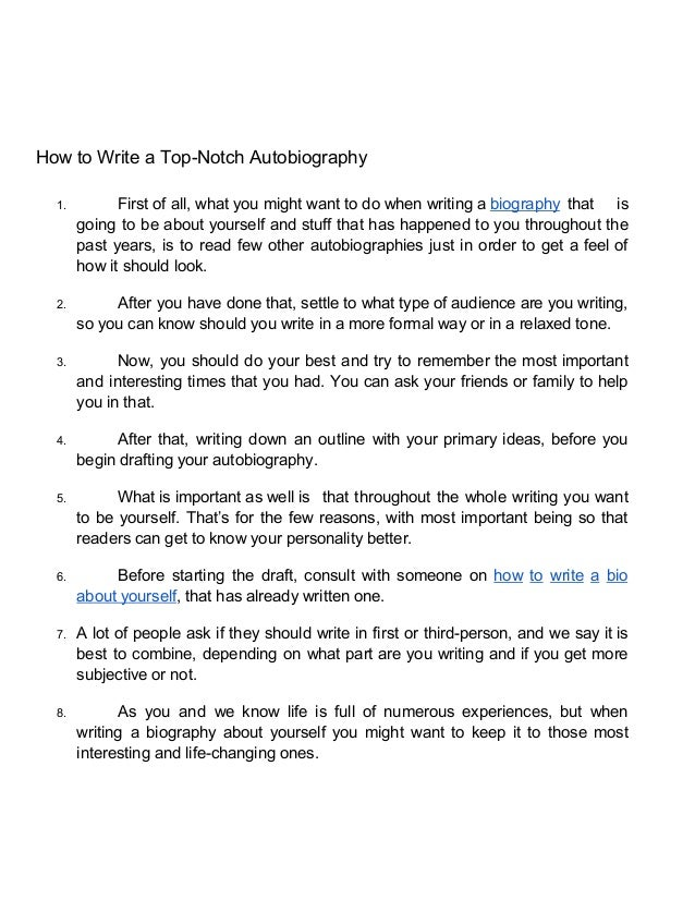 How to write an autobiography for college admission