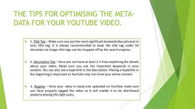 15 tips to optimise your youtube channel