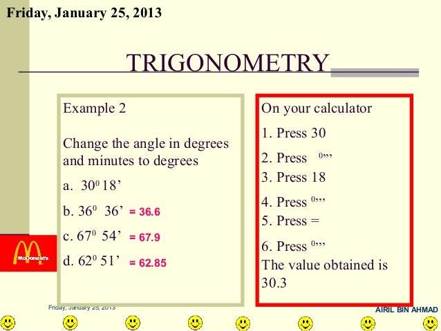 NOTE MATH FORM 3 - 15 trigonometry
