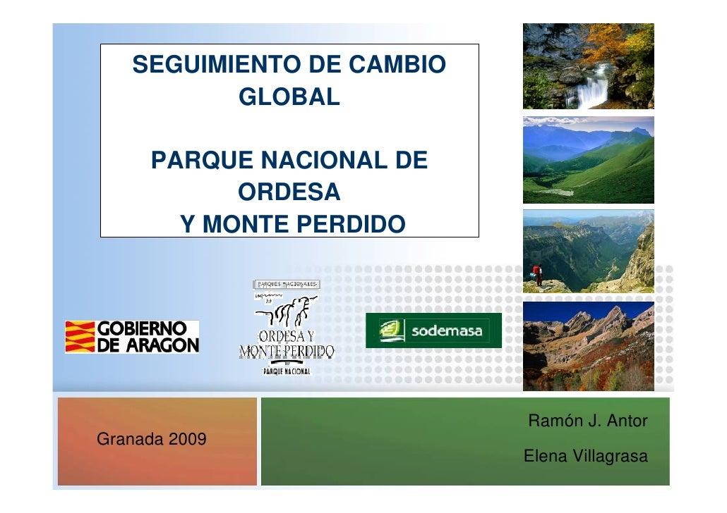 SEGUIMIENTO DE CAMBIO           GLOBAL       PARQUE NACIONAL DE            ORDESA        Y MONTE PERDIDO                  ...