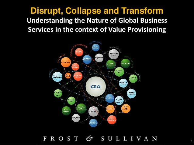 1 Disrupt, Collapse and Transform Understanding the Nature of Global Business Services in the context of Value Provisioning