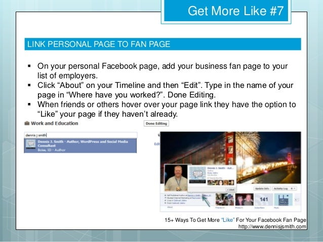 how to get more likes on my facebook fan page