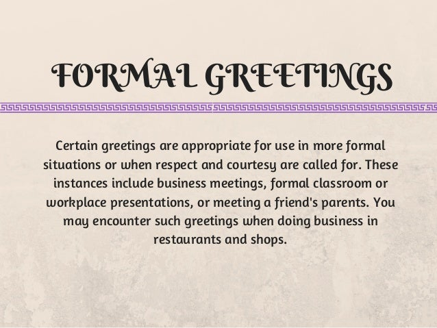 15 ways to say hello in english 4 formal greetings m4hsunfo Images