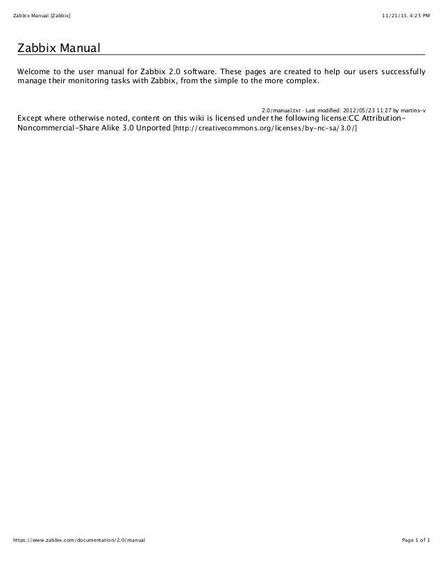 zabbix web interface