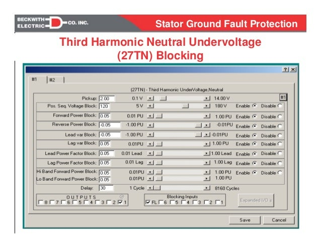 15 years of experience stator ground fault protection