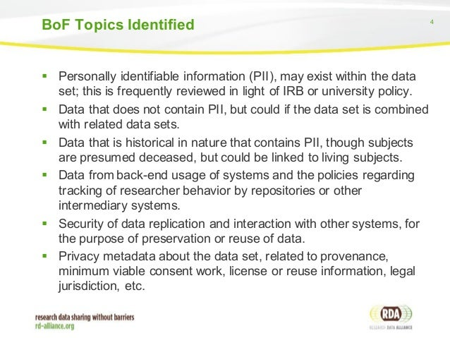 personally identifiable information pii and ethics Personally identifiable information as a general rule, ferc does not collect  personally identifiable information (pii) about you when you visit.